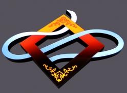 七彩树脂字logo