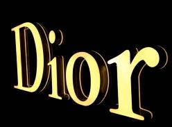 Dior品牌连锁形象墙立体字