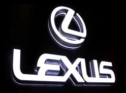 LEXUS品牌连锁形象墙迷你字