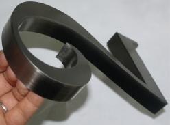 电镀黑钛立体字
