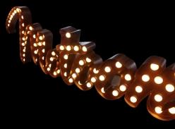 防锈灯泡字