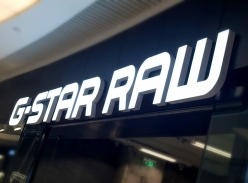 G-star raw连锁招牌-树脂发光字